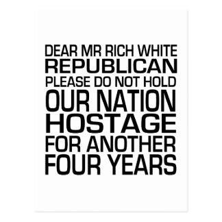Dear Mr Rich White Republican Postcard