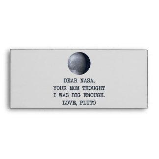 Dear Nasa Love Pluto Envelopes