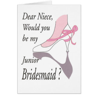 Dear Niece, Junior Bridesmaid Card