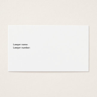 Dear Officer: This is All I'm Saying Business Card
