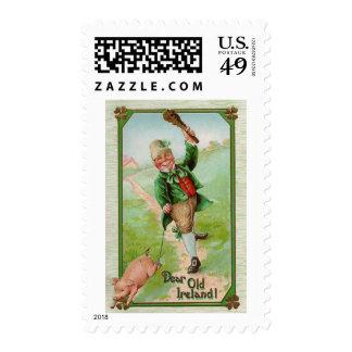 Dear Old Ireland! Vintage St. Patrick's Day Postage Stamps