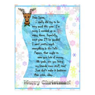 Dear Santa 2 - Customized Post Card