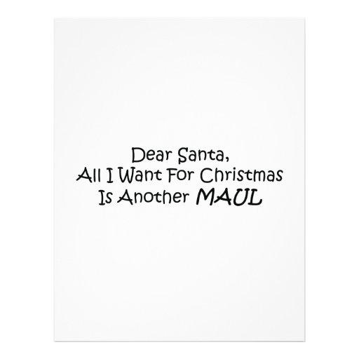 Dear Santa All I Want For Christmas Is Another Mau Letterhead Template