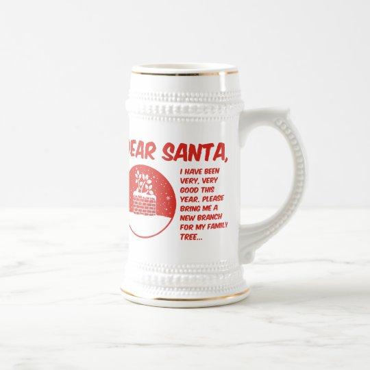 Dear Santa Beer Stein