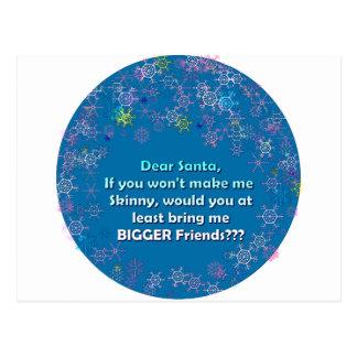 Dear Santa Bigger Friends Post Card