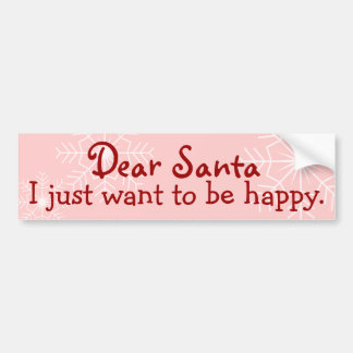 Dear Santa Bumper Sticker