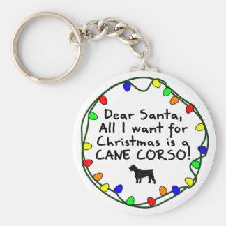 Dear Santa Cane Corso Keychain