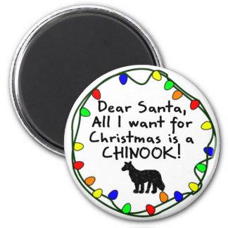 Dear Santa Chinook Refrigerator Magnet