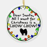 Dear Santa Chow Chow Christmas Ornament