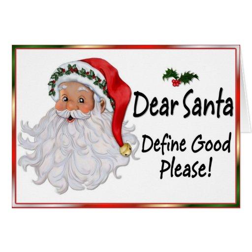 Dear Santa - Christmas Humor Cards