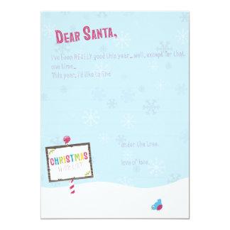 Dear Santa - Christmas Wish List Card