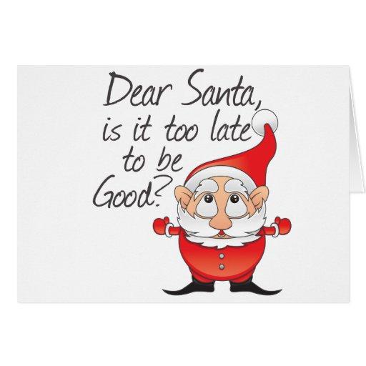 Dear Santa Claus Card