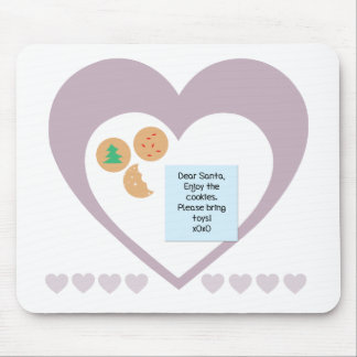 Dear Santa Cookies Bring Toys Purple Hearts Mouse Pad