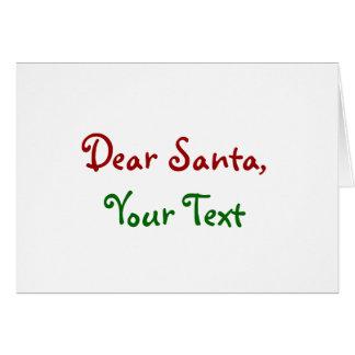 Dear Santa Custom Greeting Card
