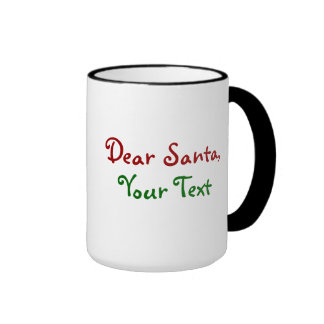 Dear Santa Custom Ringer Coffee Mug