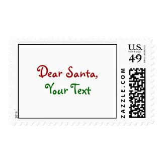 Dear Santa Custom Stamp