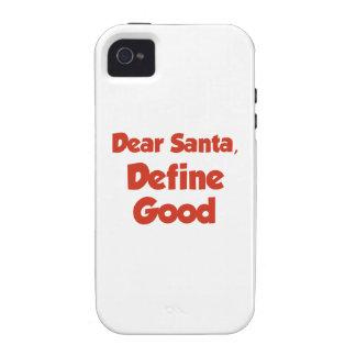 Dear Santa, Define Good Case-Mate iPhone 4 Covers