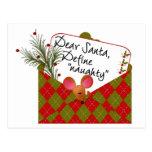 Dear Santa...Define Naughty Post Card