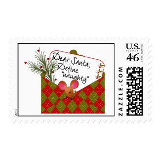 Dear Santa...Define Naughty Postage Stamp
