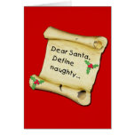 Dear Santa...Define Naughty T-shirts, Baby Clothes Card