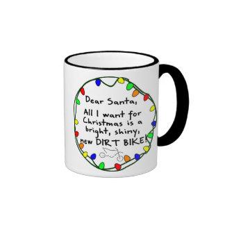 Dear Santa Dirt Bike Coffee Mugs