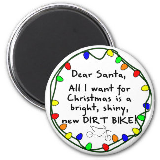 Dear Santa Dirt Bike Fridge Magnets