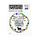 Dear Santa English Springer Spaniel Stamp