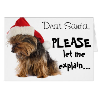 Dear Santa...explain Card