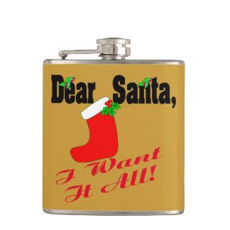 Dear Santa Flask
