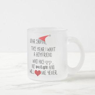 Dear Santa... - frosted glass mug