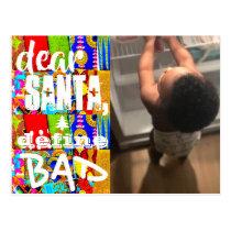 Dear Santa Funny Holiday Photo African Post Card