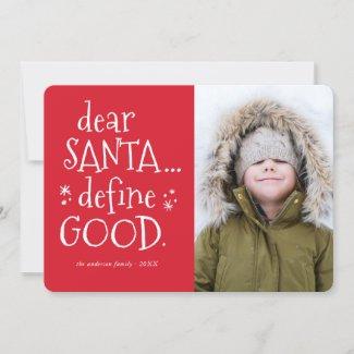 Dear Santa... Funny Holiday Photo Card