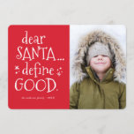 "Dear Santa... Funny Holiday Photo Card<br><div class=""desc"">Have some fun this holiday season with this funny christmas photo card!</div>"
