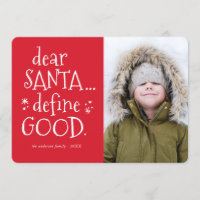 Dear Santa... Funny Holiday Photo Card
