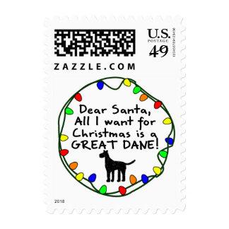 Dear Santa Great Dane Postage