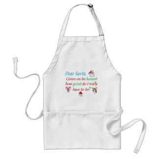 dear santa how bad... adult apron