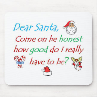 dear santa how bad... mouse pad