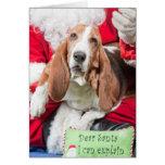 Dear Santa I can Explain Basset Hound Greeting Card