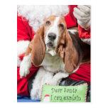 Dear Santa I can Explain Basset Hound Postcard