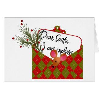 Dear Santa...I Can Explain Card