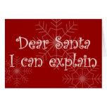 Dear Santa I can explain Cards