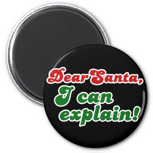 Dear Santa, I can explain Christmas Refrigerator Magnets