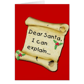 Dear Santa...I Can Explain Funny Kids Tshirt Card