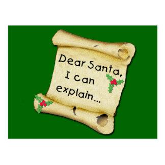 Dear Santa...I Can Explain Funny Kids Tshirt Postcard
