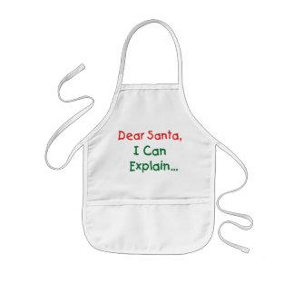 Dear Santa, I Can Explain - Funny Letter to Santa Kids' Apron
