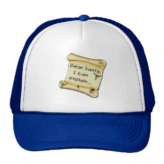 Dear Santa...I Can Explain Funny Tshirt Trucker Hat