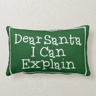 Dear Santa I Can Explain Lumbar Pillow