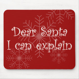 Dear Santa I can explain Mouse Pad
