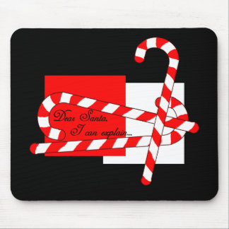 Dear Santa, I Can Explain Mouse Pad