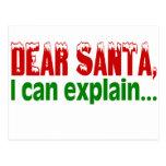 Dear Santa I Can Explain Post Card